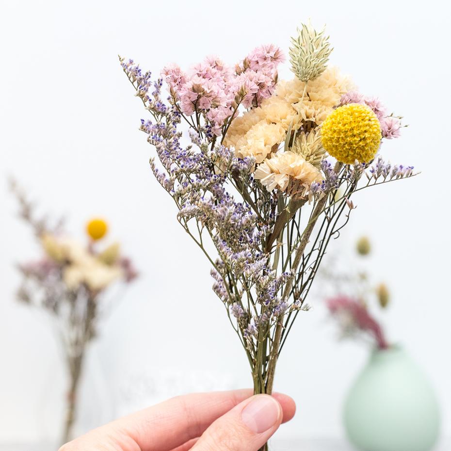 Decoration Petit Pot De Fleur dried flowers bouquet