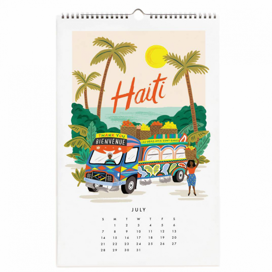 a4860c1a839dc ... Calendrier Rifle Paper - Wildwood 2019 ...