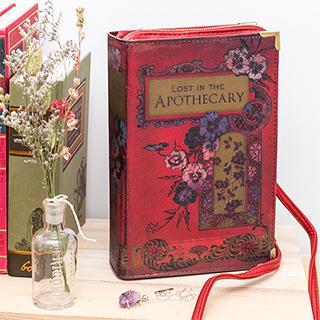 Clutch livre vintage (rouge)