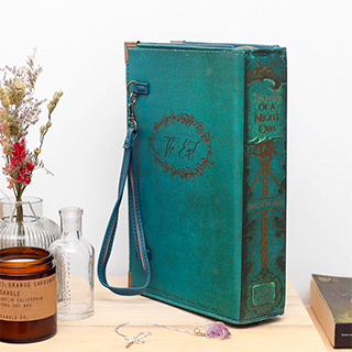 Clutch livre vintage (blue-green)