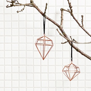 Copper diamonds