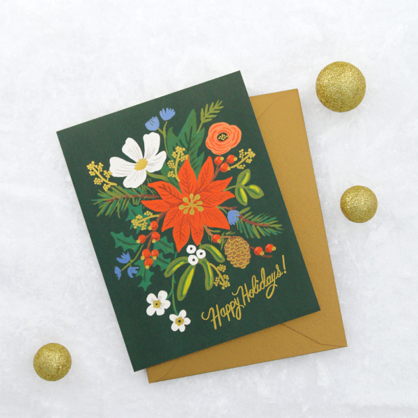 Carte Rifle Paper - Holiday bouquet