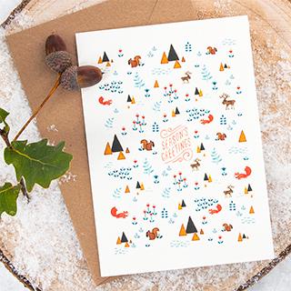 Carte - Season's greetings (écureuils)