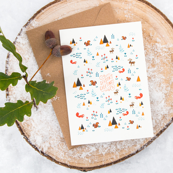 Carte - Season's greetings (squirrels)