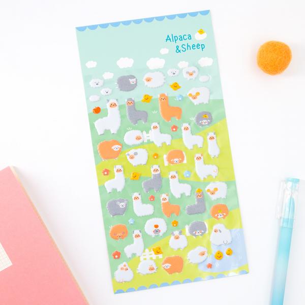 Stickers kawaii - Lamas et moutons