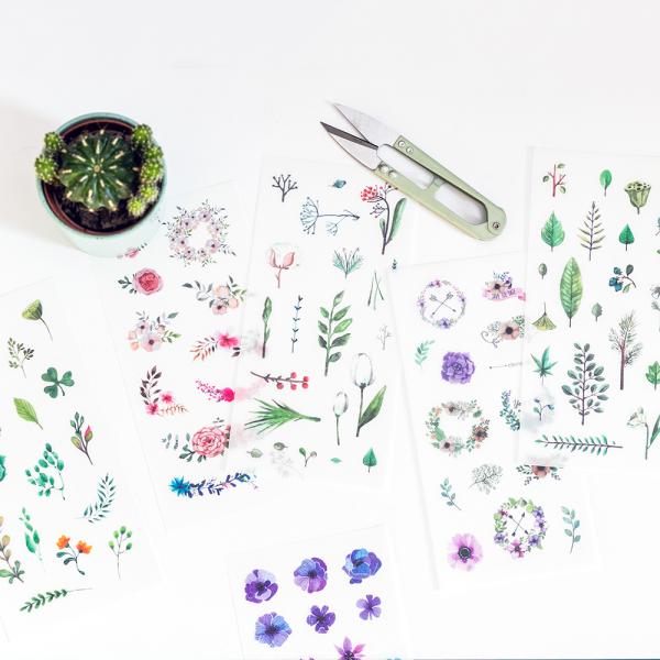 Autocollants - floral decor (printemps)