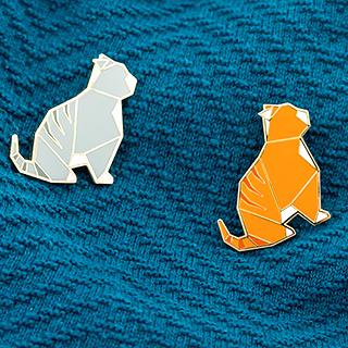 Brooch - chubby cat