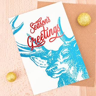 Carte - Season's greetings (cerf)