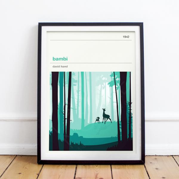 Affiche cinéma - Bambi