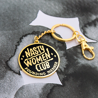 Porte-clés -  Nasty women club