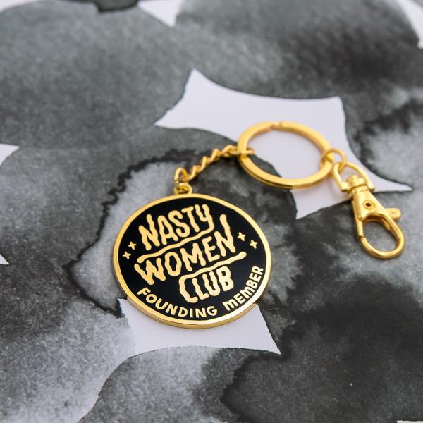 Porte-clés -  Nasty women club