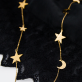 Long necklace - Moons & stars