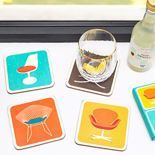 Modern house coasters - designers chairs