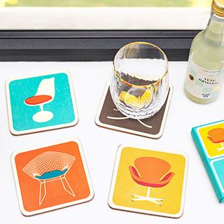 Modern house coasters - chaises de designers