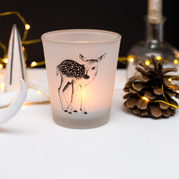 Large votive - Frosted fawn