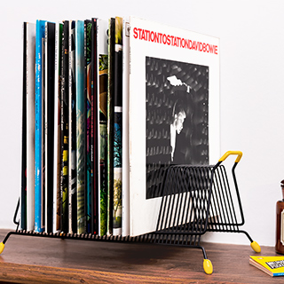 Vintage vinyls rack - black
