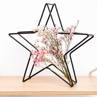 Composition étoile et fleurs séchées