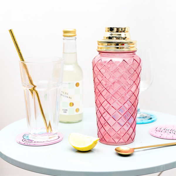 Cocktail shaker - 30's pink & gold
