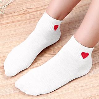 Socquettes petit coeur (côté)