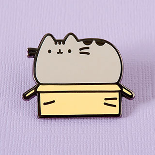 Pin's -  Pusheen in a box