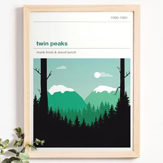 Affiche série - Twin Peaks