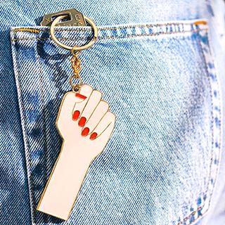 Porte-clés Oversized - Girl power