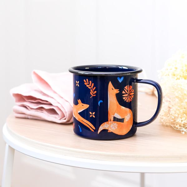 Mug en émail - Folklore renard