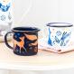 Set de tasses en émail - Folklore
