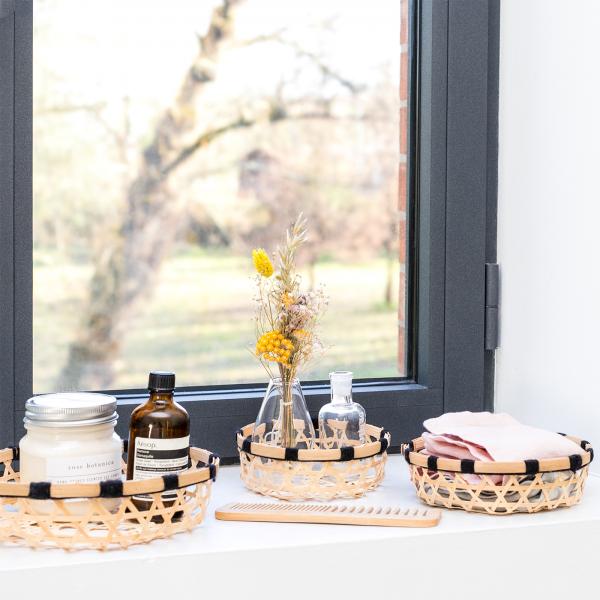 Set of rattan baskets