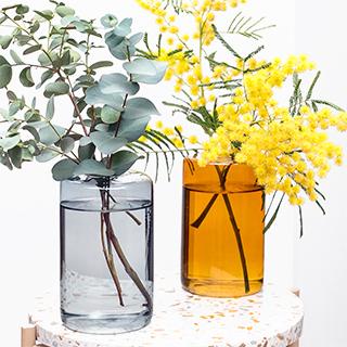 Vase en verre coloré (petit)