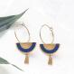 Boucles d'oreilles - Swahili hoop