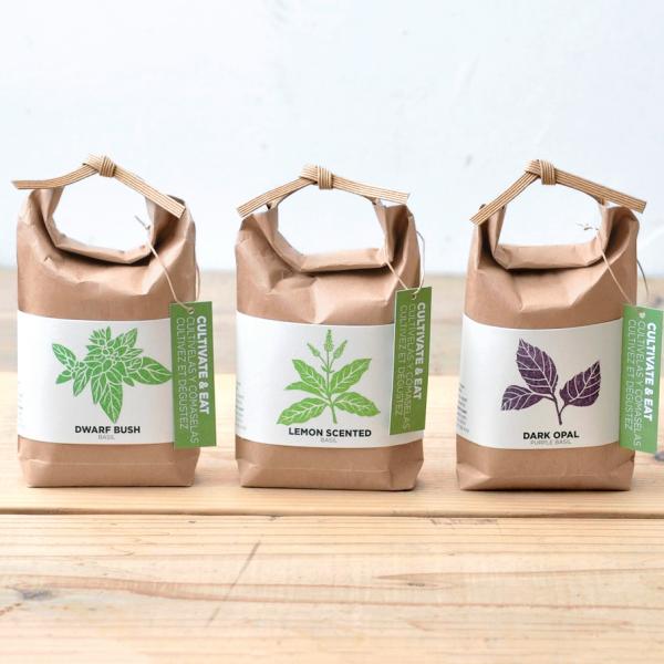 Plante à faire pousser - Cultivate & eat (basilics)