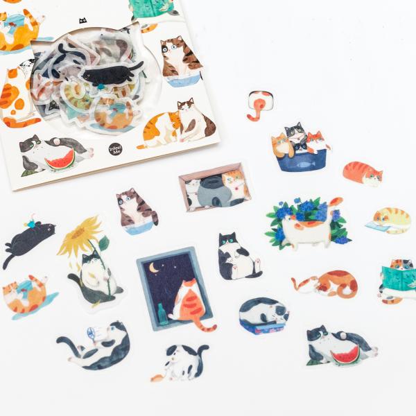 Stickers chat - Backyard cat