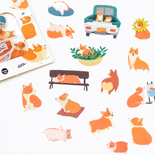 Stickers corgi - Lucky dog
