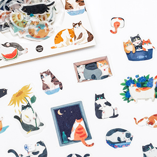 Stickers chat - Backyard cat