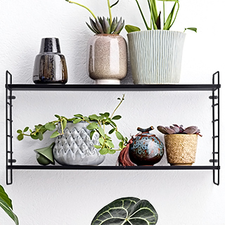 Black shelf