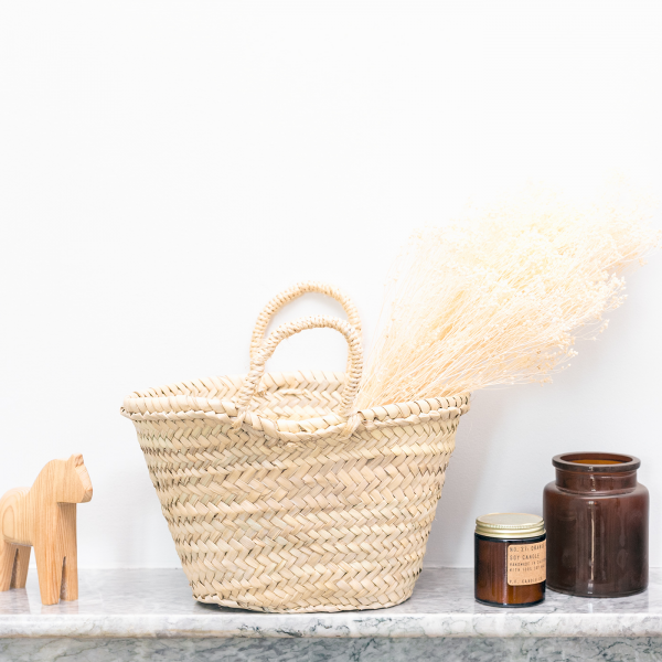 Palm basket with handles (medium)