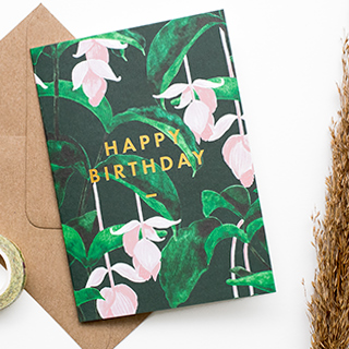 Carte - Happy birthday medinilla