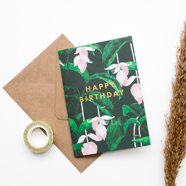 Carte - Happy birthday medinilla