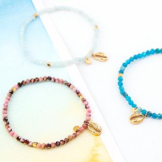 Bracelet - Coquillage et pierres