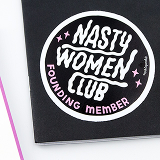 Grand sticker - Nasty women club