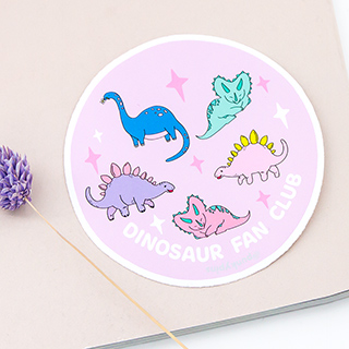 Grand sticker - Dinosaur fan club