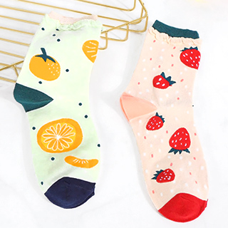 Socks - Strawberry and tangerine