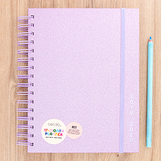 Agenda ban.do - Lilac glitter 2019 - 2020 (medium)
