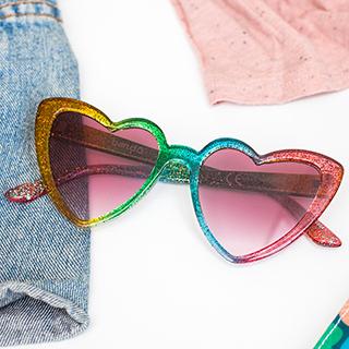 Lunettes de soleil - Rainbow hearts