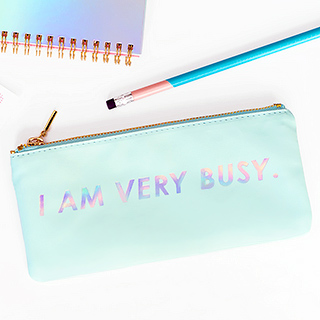 ban.do pencil case - I am very busy