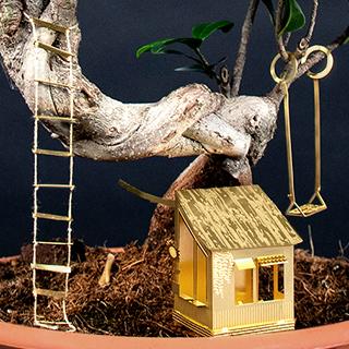 Tiny treehouse for plants