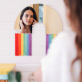 Rainbow wall mirror