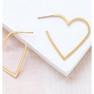 Earrings - Heart contour (large)