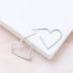 Earrings - Heart contour (small)